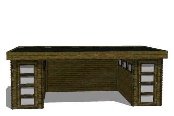 Gartenhaus/Blockhütte Fonteyn Module 700 x 300 FMB1530FMB1530L400W400-31