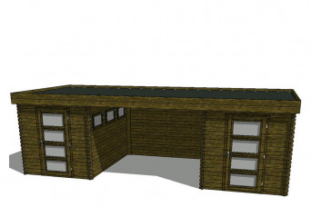 Gartenhaus/Blockhütte Fonteyn Module 700 x 300 FMB2030FMB2030L300W300-31