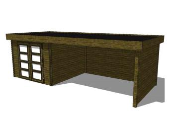 Gartenhaus/Blockhütte Fonteyn Module 700 x 300 FMB3030L400W400W300-31