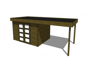 Gartenhaus/Blockhütte Fonteyn Module 700 x 300 FMB4030L300-31