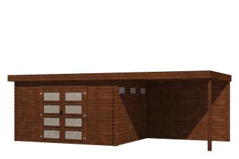 Gartenhaus/Blockhütte Fonteyn Module 700 x 300 FMB4030L300W300-31