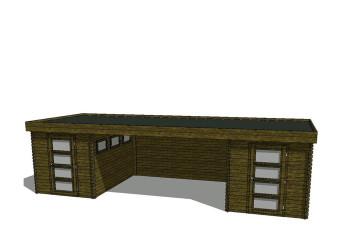 Gartenhaus/Blockhütte Fonteyn Module 800 x 300 FMB2030FMB2030L400W400-30