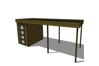 Gartenhaus/Blockhütte Fonteyn Module 800 x 300 FMB2030L300L300-31