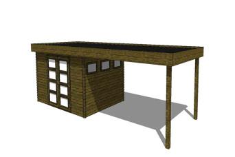 Gartenhaus/Blockhütte Fonteyn Module 800 x 300 FMB4030L400-31