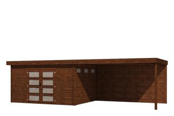 Gartenhaus/Blockhütte Fonteyn Module 800 x 300 FMB4030L400W400-31