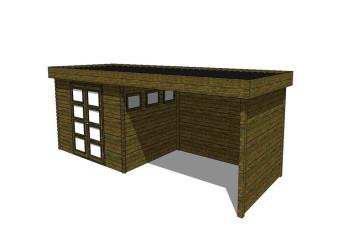 Gartenhaus/Blockhütte Fonteyn Module 800 x 300 FMB4030L400W400W300-31