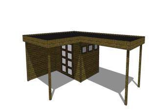 Gartenhaus/Blockhütte Fonteyn Module 800 x 600 FMBMW10-31