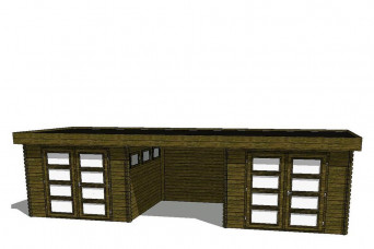 Gartenhaus/Blockhütte Fonteyn Module 850 x 300 FMB3030FMB3030L250W250-31