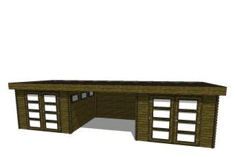 Gartenhaus/Blockhütte Fonteyn Module 900 x 300 FMB3030FMB3030L300W300-31