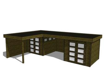 Gartenhaus/Blockhütte Fonteyn Module 900 x 600 FMBMW1-31