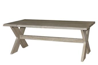 Esszimmertisch-Gartentisch 240 x 100 cm Ergrautes aufgearbeitetes Teakholz Fonteyn 750517-31