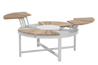 Forio Koffietafel Aluminium Teakhout 4 Seasons Outdoor