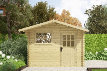 Gartenhaus / Blockhütte Fonteyn Heleen Satteldach 300 Hochdruck Imprägniert Heleen 300 x 300 cm 261275-31