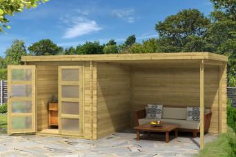 Gartenhaus / Blockhütte Fonteyn Helmond Hochdruck imprägniert 490 x 255 cm 200018-31