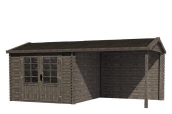 Fonteyn Gartenhaus / Blockhaus Irma Satteldach Hochdruck imprägniert 580 x 290 cm 200073-31