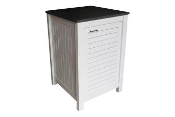 Außenküche Modul Fonteyn 1-Tür Schrank Fresh White / Teak Braun 500809-31
