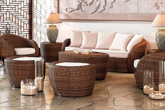 Lotus Loungeset Wicker Tan Artie Garden Tuinmeubelen