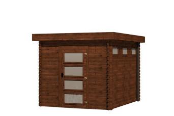 Gartenhaus/Blockhütte Fonteyn Module Hochdruck-Imprägniert 250 cm x 300 cm 201226-31