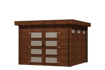Gartenhaus/Blockhütten Fonteyn Module Hochdruck-Imprägniert 300 cm x 300 cm 200045-31