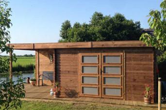 Gartenhaus/Blockhütte Fonteyn Module Hochdruck-Imprägniert 400 cm x 300 cm 200044-31
