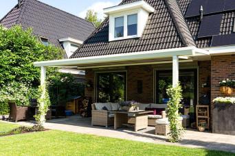 Terrassenüberdachung Topline Überdachung mit Polycarbonat klar oder opal 300 x 300 cm 330237-31