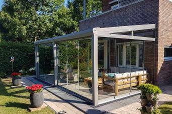 Terrassenüberdachung Topline Überdachung mit Polycarbonat klar oder opal 300 x 350 cm 330238-31