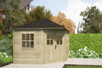 Gartenhaus / Blockhütte Fonteyn Carmen Pyramidendach 300 x 300 cm 200089-31