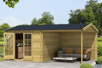 Gartenhaus/Blockhütte Fonteyn Vera Satteldach Hochdruck-Imprägniert 560 x 300 cm 200014-31
