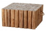 Apple Bee   Koffietafel Twiggy 70 x 70 x 35 cm   Met Handvaten