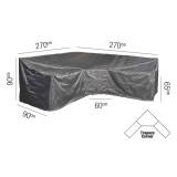 Loungeset Schutzhülle L/Trapeze - 270x270x90xH65/90 HB - Platinum