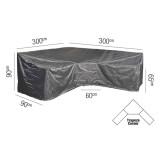 Loungeset Schutzhülle L/Trapeze - 300x300x90xH65/90 HB - Platinum