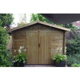 Gartenhaus / Blockhütte Fonteyn Alicia Satteldach 300 Hochdruck Imprägniert 300 x 300 cm