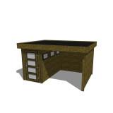 Gartenhaus/Blockhütte Fonteyn Module 400 x 300