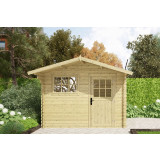 Gartenhaus / Blockhütte Fonteyn Heleen Satteldach 300 Hochdruck Imprägniert Heleen 300 x 300 cm