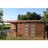Gartenhaus/Blockhütte Fonteyn Module  Hochdruck-Imprägniert 400 cm x 300 cm