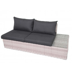 Fonteyn | Loungebank 2-zits Links Salou | Halfmoon Light Grey