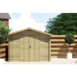 Gartenhaus / Blockhütte Fonteyn Alicia Satteldach 250 Hochdruck Imprägniert 300 x 250 cm