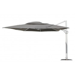 4 Seasons Outdoor | Zweefparasol Hacienda 300 x 400 cm | Wit-Mid Grey