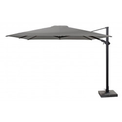4 Seasons Outdoor | Zweefparasol Siesta Premium 300 x 300 cm | Antraciet-Mid Grey