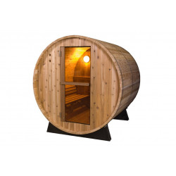 Außensauna  - Fonteyn Rustic 8FT - Saunafass 245 x 185 x 200 cm