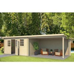 Outdoor Life Products | Tuinhuis met Overkapping Aida 760 x 275