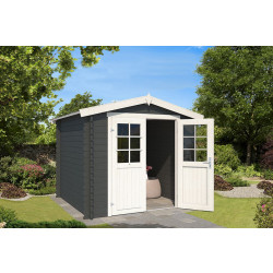 Outdoor Life Products | Tuinhuis Ingo 230 x 230 | Gecoat | Carbon Grey-Wit