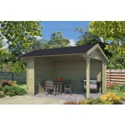 Outdoor Life Products | Overkapping Kirian 380 x 300 | Geïmpregneerd | Olijfgroen
