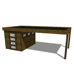 Gartenhaus/Blockhütte Fonteyn Module 600 x 300