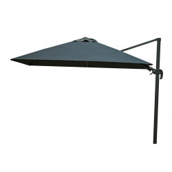 Zweefparasol 300 x 300 cm Shadow - Antraciet/Faded Black - Fonteyn Collectie