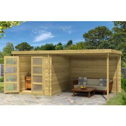 Gartenhaus / Blockhütte Fonteyn Helmond Hochdruck imprägniert 490 x 255 cm