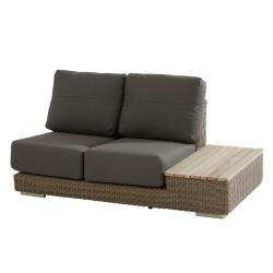 4 Seasons Outdoor   Loungebank Kingston 2-zits Links   Pure-Teak