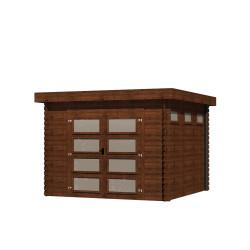Gartenhaus/Blockhütten Fonteyn Module Hochdruck-Imprägniert 300 cm x 300 cm