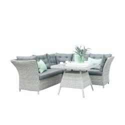 Lounge-/Essgruppe Morris - Weiß Grau - Fonteyn Collection