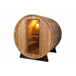 Außensauna - Fonteyn Rustic 6FT - Saunafass 185 x 185 x 200 cm